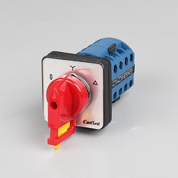 4 Pole 3 Position Selector Switch (with push lock)